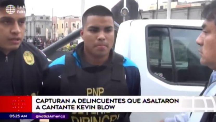 Asaltantes de Kevin Blow. (Video: América Noticias)