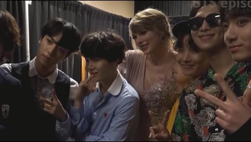 BTS y Taylor Swift en los premios Billboard 2018