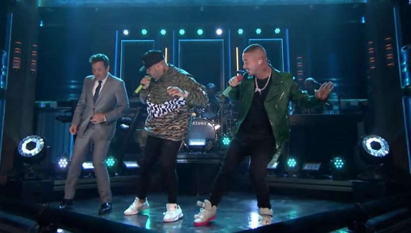 Jimmy Fallon, Nicky Jam y J Balvin