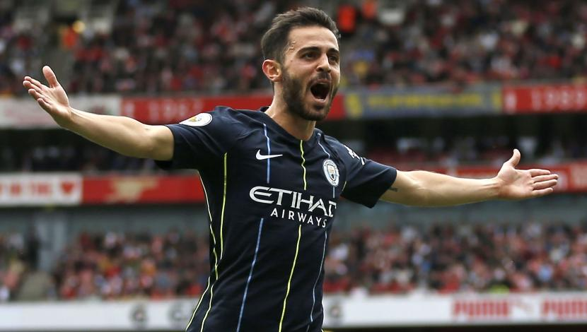 Manchester City vs. Arsenal: Bernardo Silva marcó golazo para el 2-0 de los citizens. (Video: YouTube/Foto: AFP)