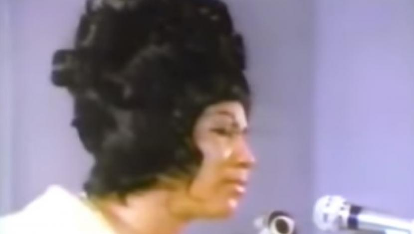 Aretha Franklin en el funeral de Martin Luther King