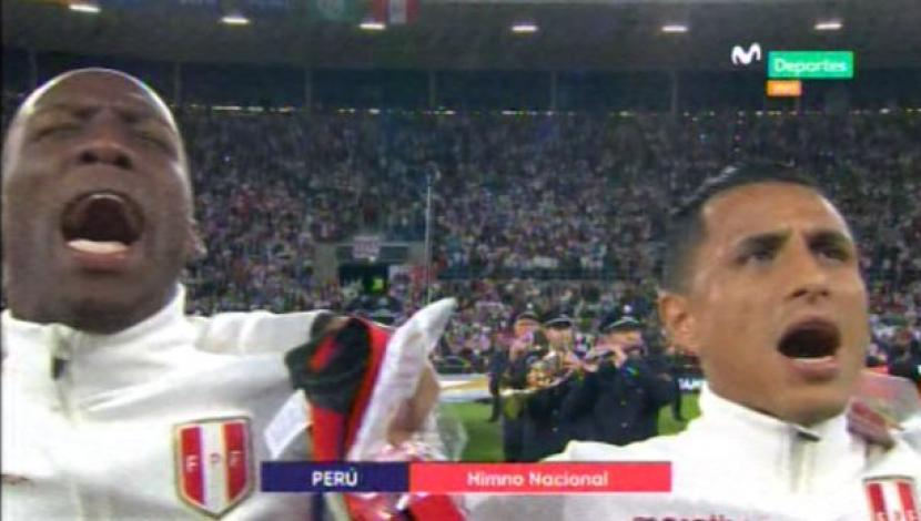Perú vs. Alemania: himno nacional retumbó en el Rhein-Neckar-Arena. (Video: Movistar Deportes / Media Networks / Foto: Captura de video)