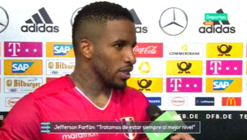 "Perú vs. Alemania: ""Ha sido mi novia"", bromeó Farfán sobre amistad con Neuer. (Video: Movistar Deportes / Media Networks/Foto: Captura de video)"