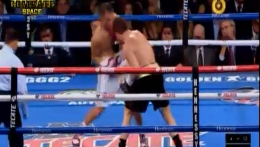 'Canelo' vs. Golovkin: el increíble uppercut que remeció al boxeador mexicano en el cuarto round. (Video: Space/Foto: Captura de pantalla)
