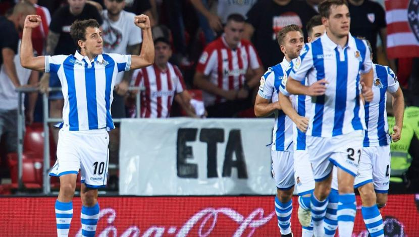 Real Sociedad ganó 3-1 a Athletic Bilbao con doblete de Oyarzabal en San Mamés por el derbi vasco | VIDEO. (Video: YouTube/Foto: AFP)