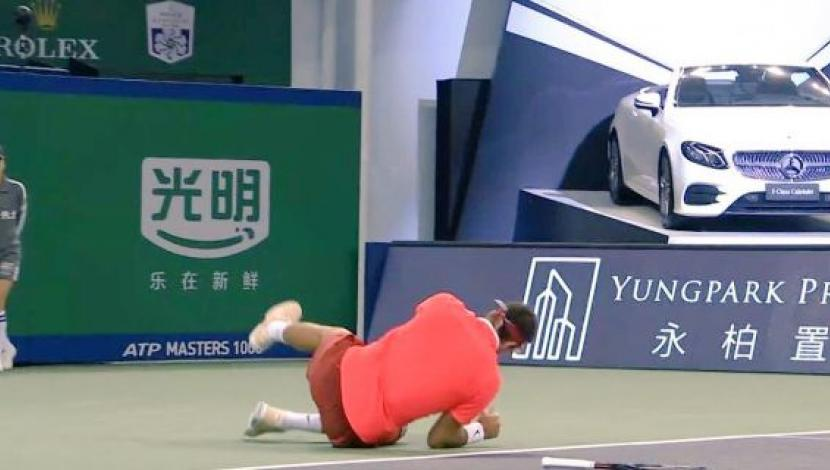 Del Potro y el momento en que abandonó. (Video: YouTube/Foto: Captura)