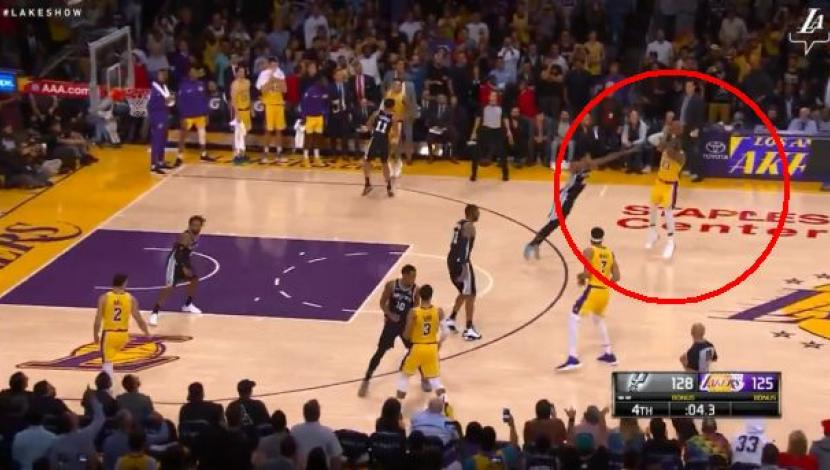 LeBron James forced in time with a triple shining video: Lakers