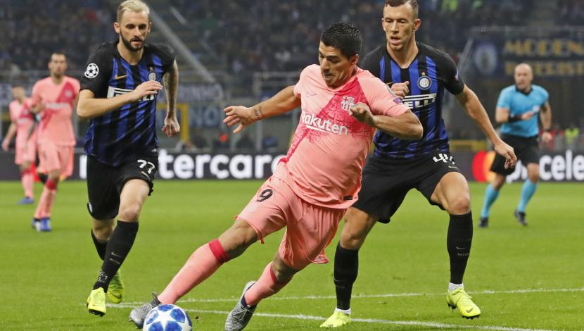 Barcelona tied 1-1 to Inter Milan for the Champions League