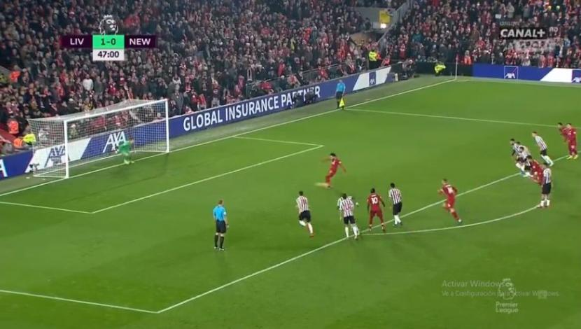 Mohamed Salah colocó el 2-0 en el Liverpool vs. Newcastle en el marco de la jornada 19° de la Premier League