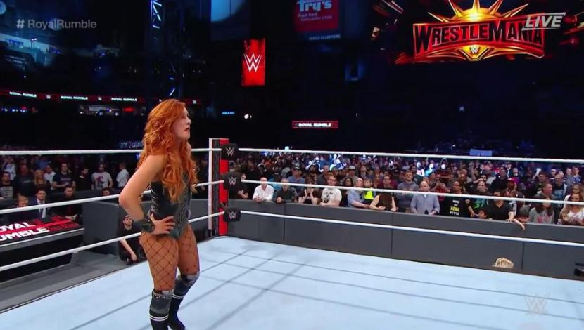 WWE Royal Rumble: Becky Lynch ganó la batalla real femenina y luchará por el título femenino en WrestleMania. (Foto: WWE)
