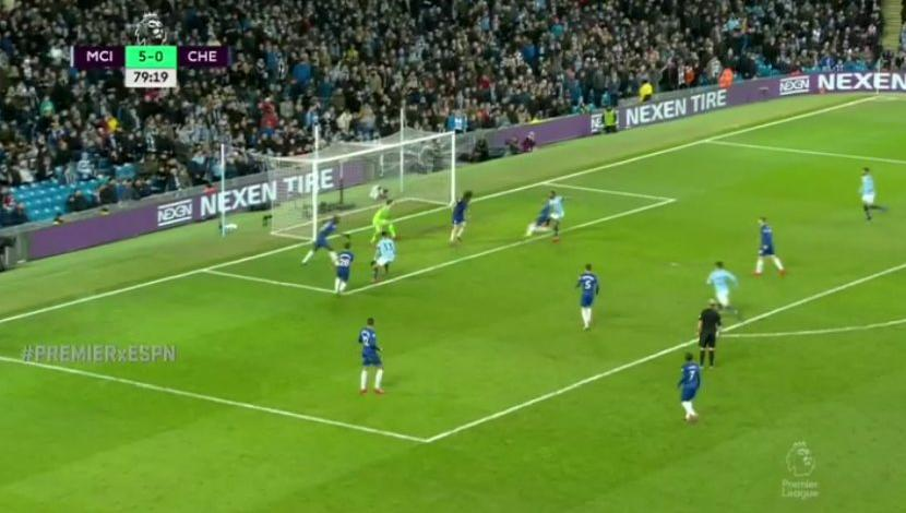 Raheem Sterling complete un doblete frente a Chelsea. (Captura y video: ESPN)