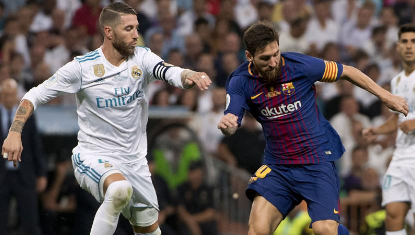 Real Madrid vs. Barcelona: Sergio Ramos vs. Messi, una rivalidad de líderes. (Foto: AFP)
