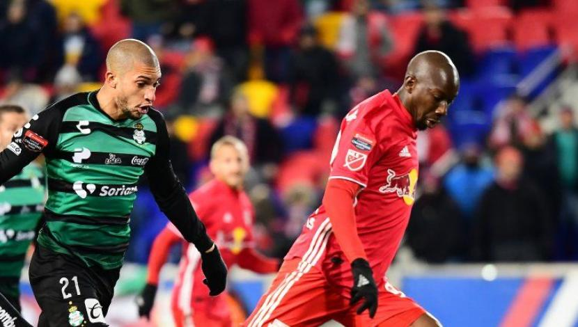 Santos vs. New York Red Bulls chocan por cuartos de final de Concachampions 2019. (Foto: AFP)