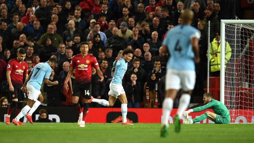 Manchester United vs. Manchester City: Sané anotó el 2-0 tras floja reacción de David de Gea
