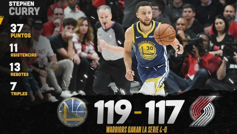 ¡Warriors campeón de la Conferencia Oeste! Venció 4-0 a Blazers y pasó a la final de la NBA | VIDEO. (Video: YouTube / Foto: NBA)