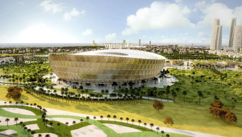 El diseño del estadio para la final del Qatar 2022. Foto y video: AFP
