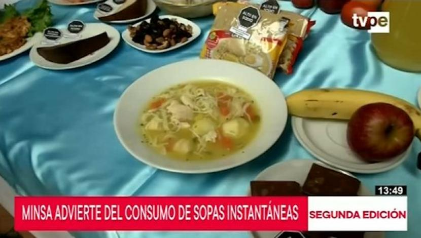 Instant soups can cause damage to health due to high sodium content