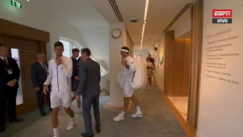 Federer vs Djokovic: así recorrieron los pasillos del All England Club previo a la final de Wimbledon | VIDEO