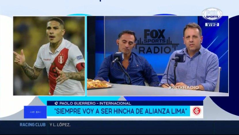 Paolo Guerrero confesó nuevamente su hinchaje por Alianza Lima. (Captura y video: Fox Sports)