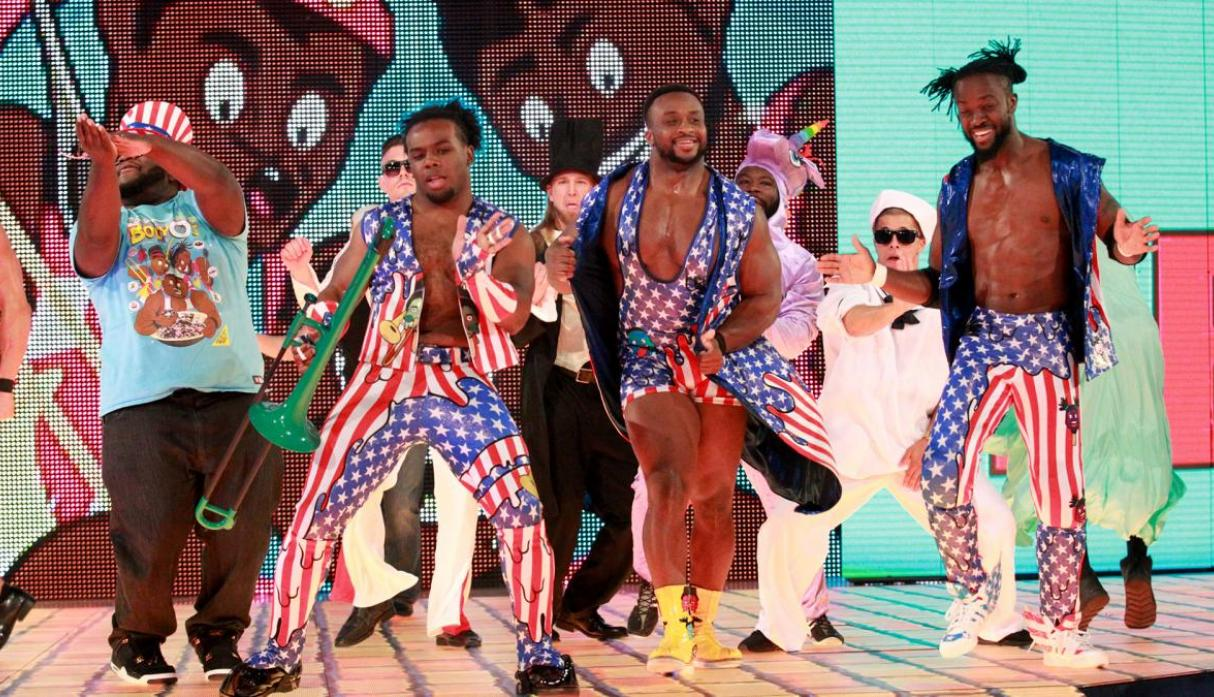 The Usos se enfrentaron en una batalla de gallos ante The New Day. (Foto: WWE).