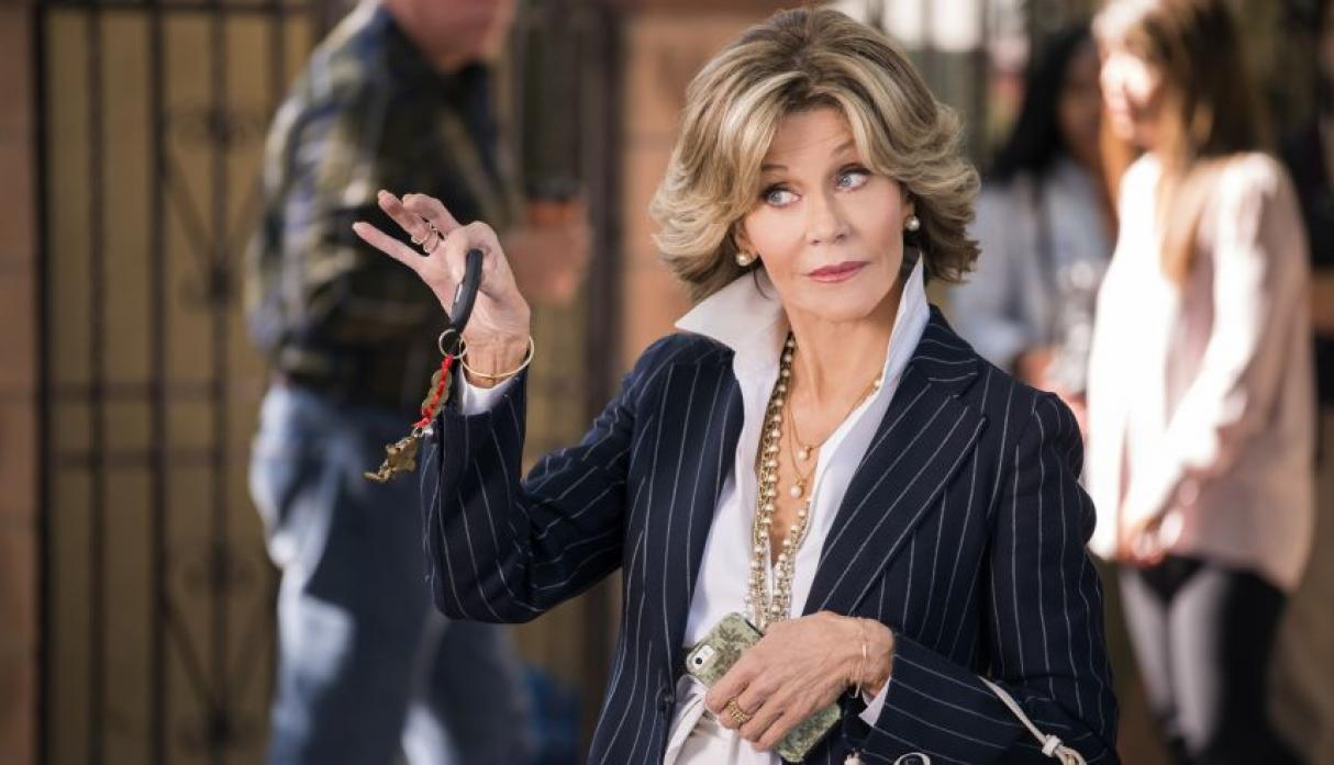 "Jane Fonda nominada por la serie  ""Grace and Frankie"". (Foto: Agencias)"
