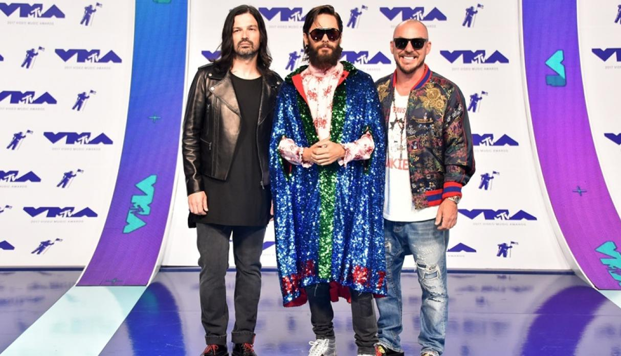 Thirty Seconds to Mars y Jared Leto en los MTV VMA 2017.