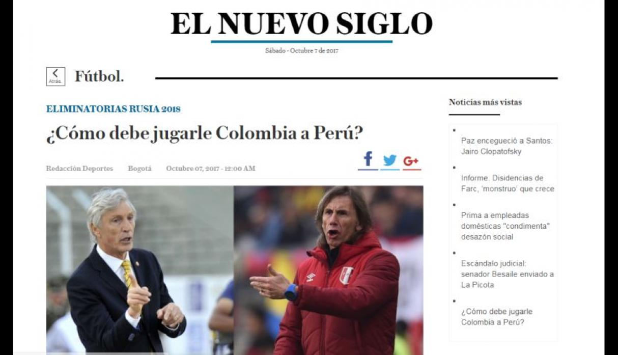 No pierde en Lima hace siete Eliminatorias — Colombia optimista
