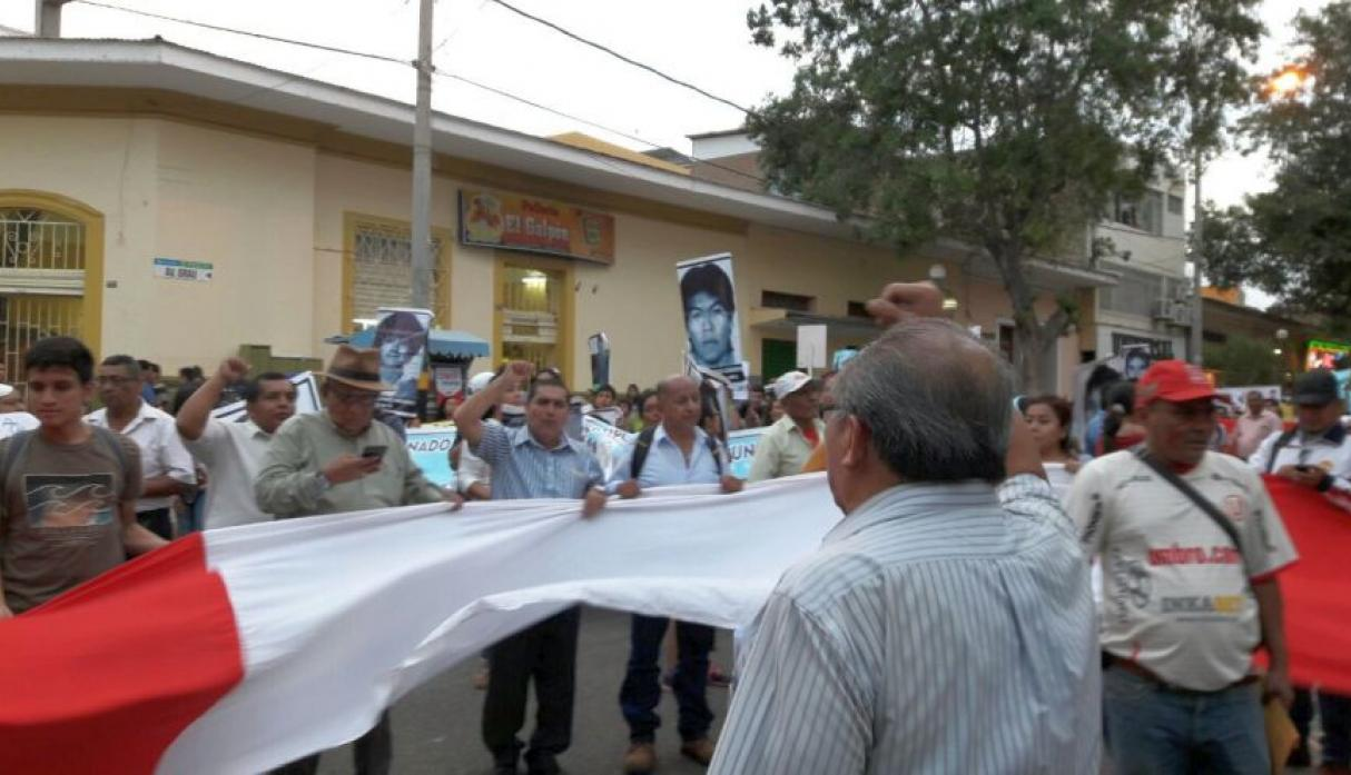 Collectives demonstrate against the pardon in Piura and Tumbes