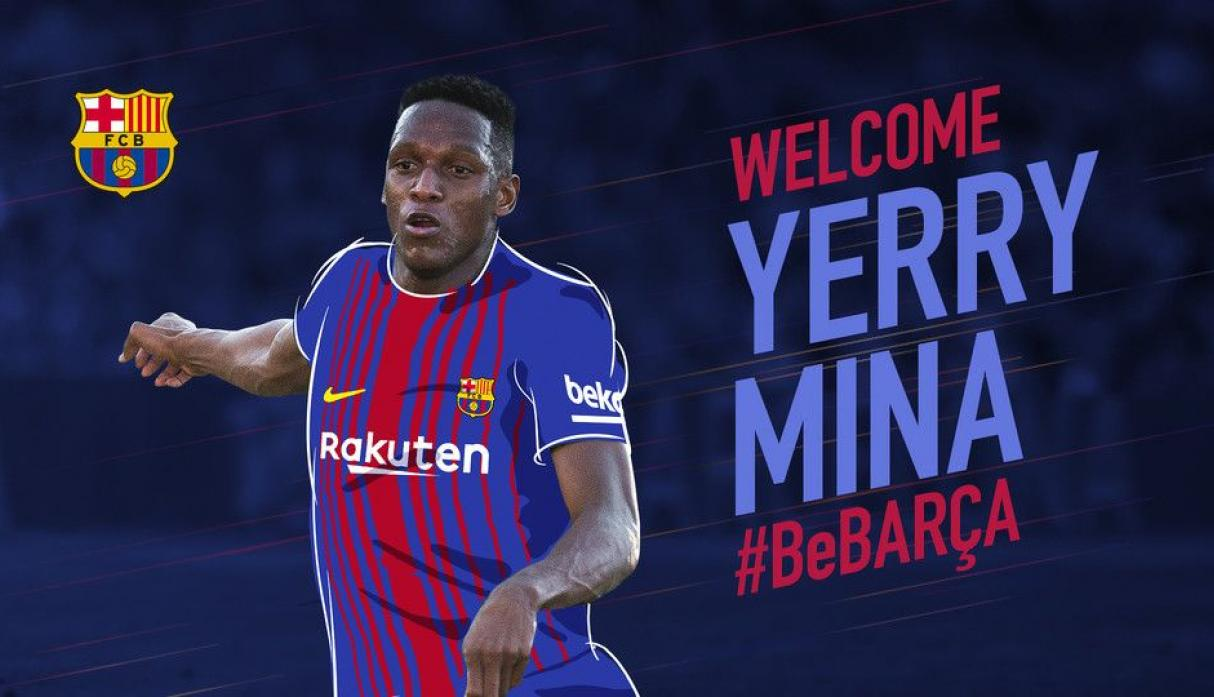 Yerry Mina. El colombiano acaba de ser confirmado por 12 millones. Es defensor central.