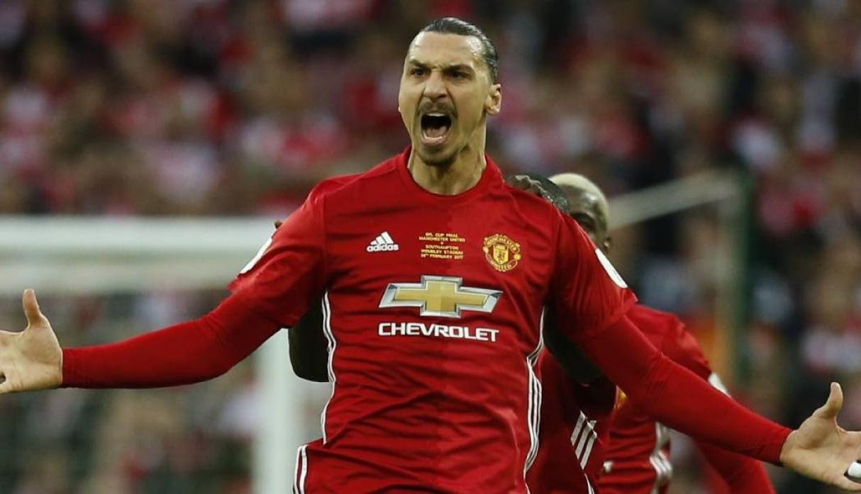 Ibrahimovic del Manchester United a los Ángeles Galaxy. (Foto: AFP)