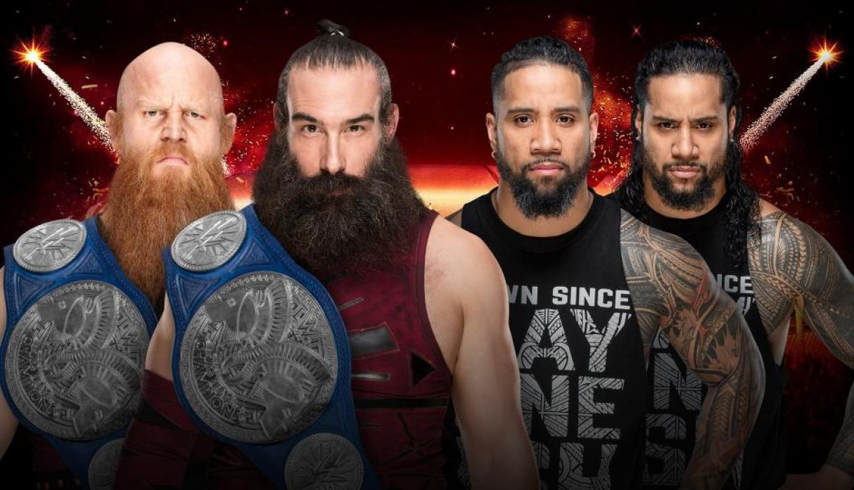 The Bludgeon Brothers (Harper y Rowan) vs. The Usos (Jimmy Uso y Jey Uso): por el campeonato en parejas de SmackDown