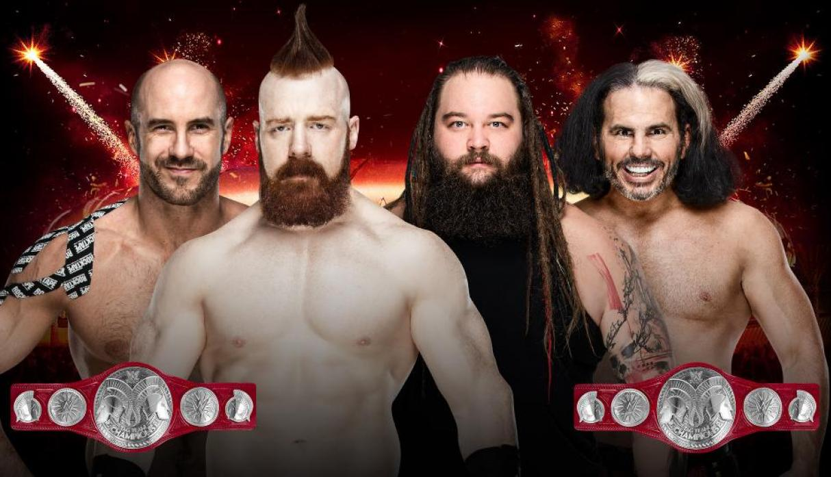 The Bar (Cesaro y Sheamus) vs. 'Woken' Matt Hardy y Bray Wyatt: por el campeonato en parejas de Raw
