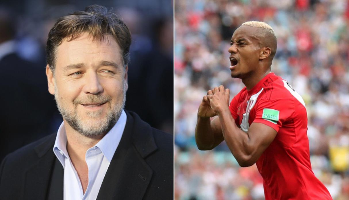 Russel Crowe y André Carrillo. (Fotos: Agencias)
