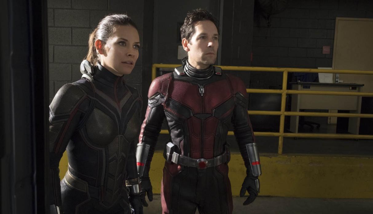"Evangeline Lilly y Paul Rudd en escena de ""Ant Man and the Wasp"". (Foto: AP)"