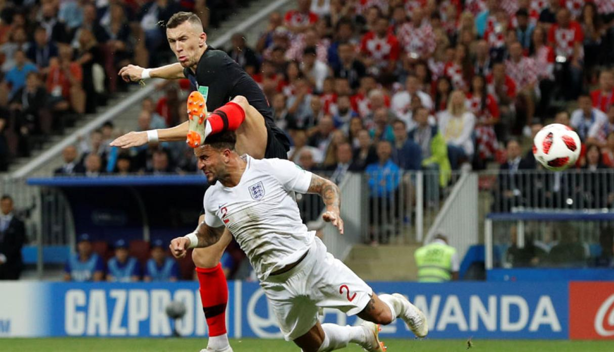 Inglaterra vs. Croacia EN VIVO: el gol de Perisic para el 1-1 [VIDEO] (Foto: captura de FOX)