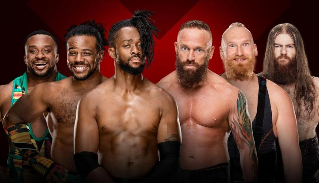 The New Day vs. SAnitY (Tables Match) (Extreme Rules Kickoff) (Foto: WWE).