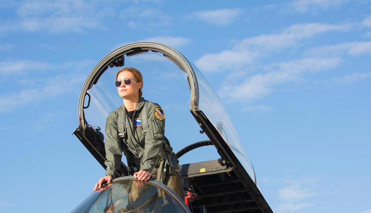 "Las primeras fotos de ""Captain Marvel"". (Foto: Entertainment Weekly)"