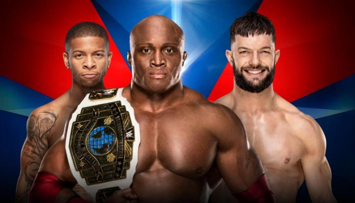Lucha por el campeonato Intercontinental: Bobby Lashley vs. Finn Bálor.  (Foto: WWE).