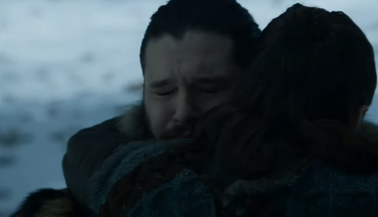 """Game of Thrones"": el emotivo reencuentro de Jon Snow y Arya (Foto: Captura de pantalla)"