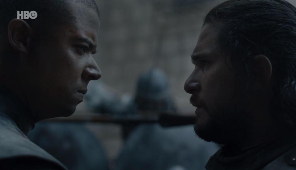 Game of Thrones 8x06 | Jon Snow y Gusano Gris
