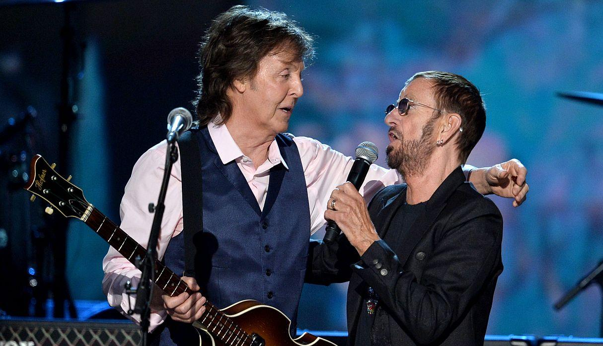 Paul Mc Cartney y Ringo Starr tocaron juntos en Los Ángeles