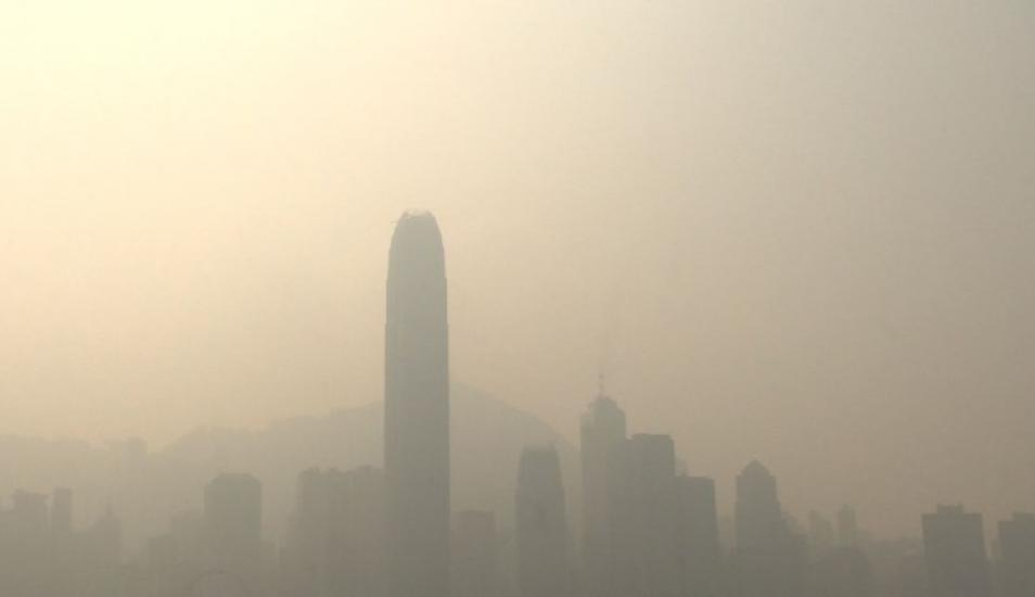 China: La contaminación cubre Hong Kong