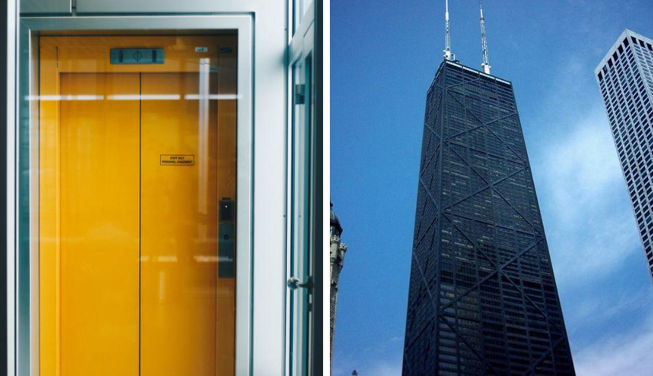 Se salvan de caída de ascensor en edificio de Chicago
