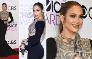 Jennifer López impactó en los People's Choice Awards