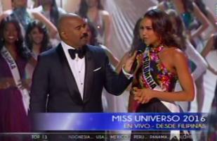 Miss Colombia a Steve Harvey: