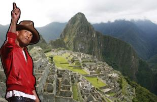 Pharrell Williams llegó a Cusco para visitar Machu Picchu