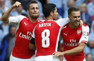 Arsenal goleó 3-0 al City y conquistó la Community Shield