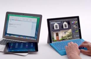 Microsoft usa su Surface Pro 3 para burlarse de Apple