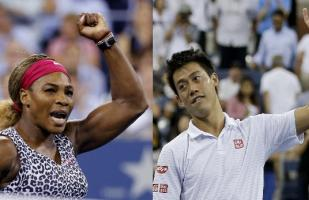 US Open: Serena Williams y Kei Nishikori en semifinales