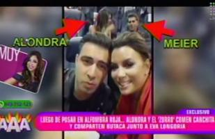 Eva Longoria 'captó' por accidente a Alondra y Christian Meier
